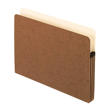 """Pendaflex® Standard File Pockets, 100% Recycled, 3 1/2"""" Expansion, Letter Size, Redrope, Box Of 25 Pockets"""