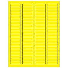 Office Depot Brand Labels LL170YE Rectangle
