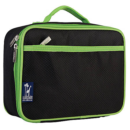 Wildkin Polyester Lunch Box, Rip-Stop Black And Green