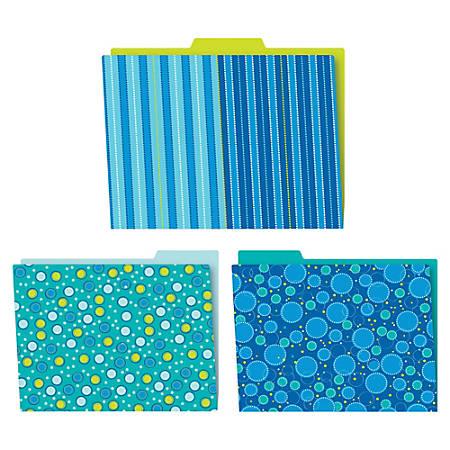 Carson-Dellosa Bubbly Blues File Folders Set - Multi-colored - 6 / Pack