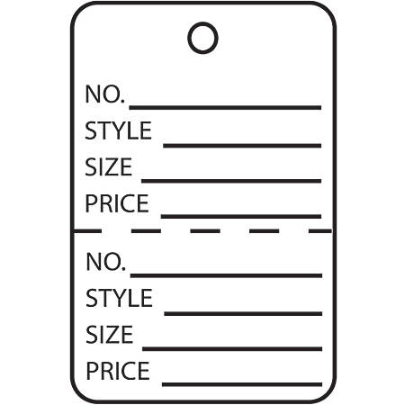 """Office Depot® Brand Garment Tags, Perforated, 1 3/4"""" x 2 7/8"""", 100% Recycled, White, Case Of 1,000"""
