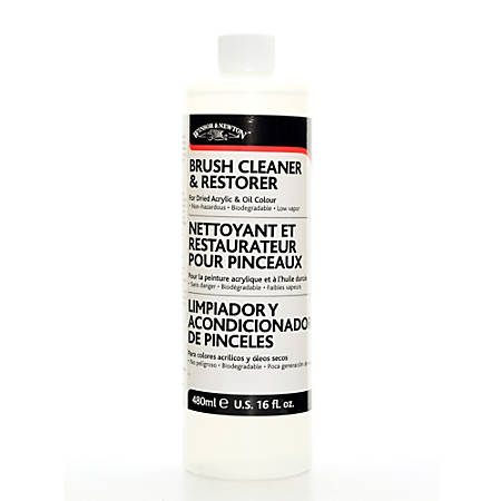 Winsor & Newton Brush Cleaner And Restorer, 474 mL