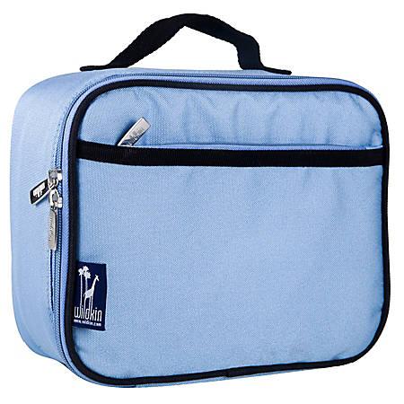 "Wildkin Polyester Lunch Box, 9 3/4""H x 7""W x 3 1/4""D, Placid Blue"