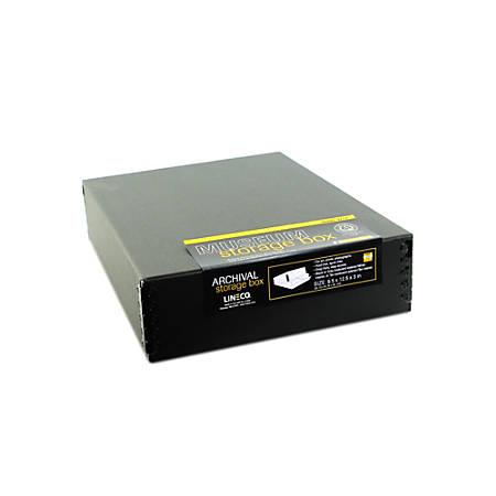 "Lineco Drop-Front Storage Box, 9"" x 12"" x 3"", Black"