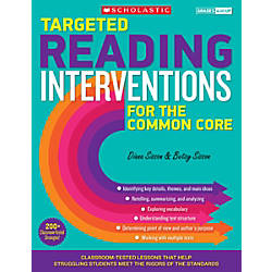 Scholastic Teacher Resources Targeted Reading Intervention