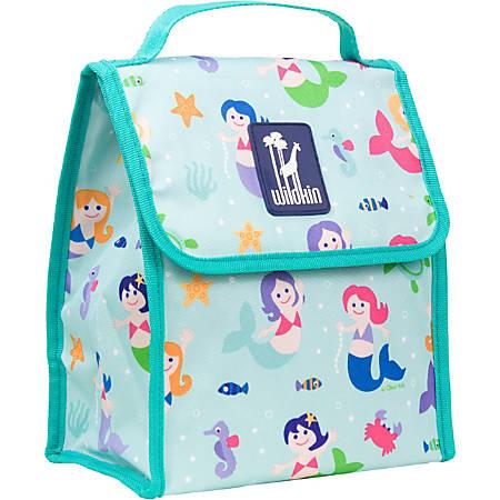 """Wildkin Munch 'N Lunch Bag, 10""""H x 8 1/2""""W x 5""""D, Mermaids"""