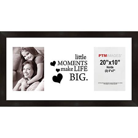 """PTM Images Photo Frame, Little Moments, 22""""H x 1 1/4""""W x 12""""D, Black"""