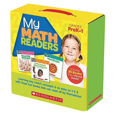 Scholastic Teacher Resources My Math Readers, Pre-K To Grade 1, Parent Pack Of 25 Books