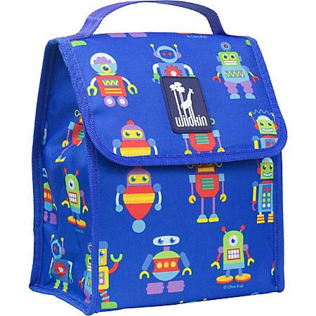 Wildkin Munch 'N Lunch Bag, Olive Kids Robots