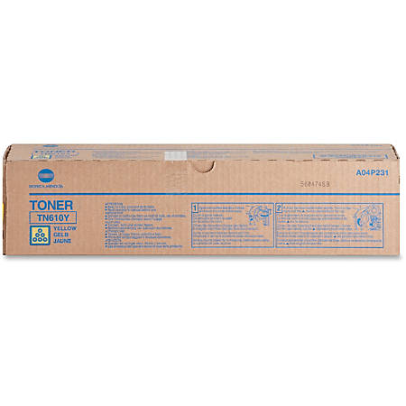 Konica Minolta TN-610Y Original Toner Cartridge - Laser - 26500 Pages - Yellow - 1 Each