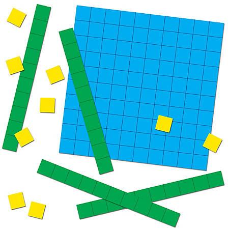 Carson-Dellosa Base 10 Blocks Curriculum Cut-Outs Sets, Multicolor, Grades Pre-K - 5, Pack Of 12