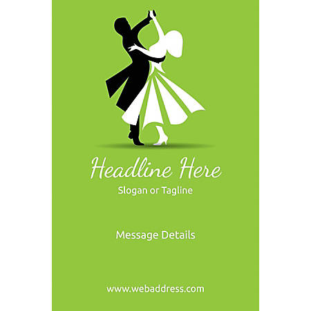 Adhesive Sign, Dancing Couple, Vertical