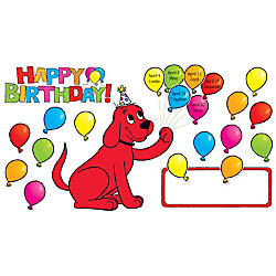 Scholastic Teachers Friend Clifford Birthday Bulletin
