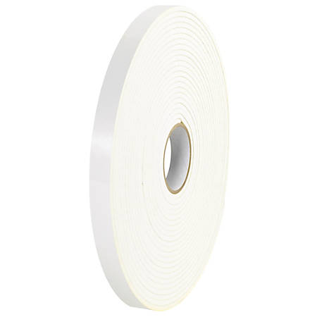 """Tape Logic® Double-Sided Foam Tape, 3"""" Core, 0.75"""" x 216', White, Case Of 16"""