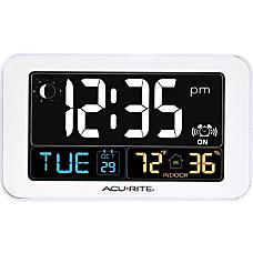 AcuRite Intelli Time Clock with Indoor