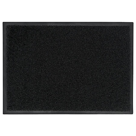 "M + A Matting Brush Hog Floor Mat, 24"" x 36"", Charcoal Brush"