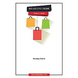 Adhesive Sign Shopping Bags Vertical