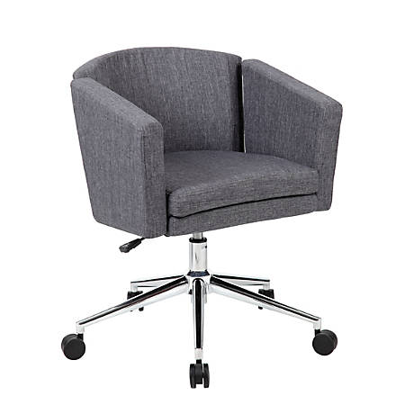 Boss Office Products Metro Club Mid-Back Desk Chair, Slate Gray/Chrome