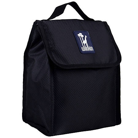 Wildkin Munch 'N Lunch Bag, Rip-Stop Black