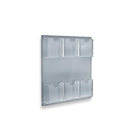 "Azar Displays Wall-Mount Brochure Holders, 6 Pockets, 15"" x 16 1/2"", Pack Of 2"