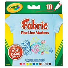 Crayola Bright Fabric Markers Broad Point