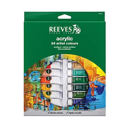 Reeves Acrylic Paint Set, 0.34 Oz, Set Of 24