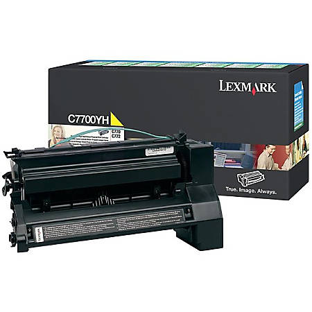 Lexmark™ C7700YH Yellow Toner Cartridge