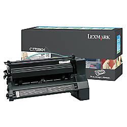 Lexmark C7700KH Black Toner Cartridge