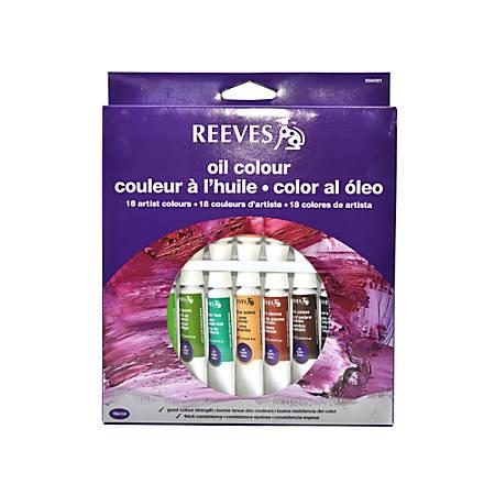 Reeves Fine Oil Color Set, Set Of 18
