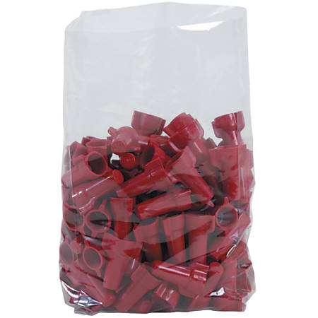 """Office Depot Brand 1 Mil Gusseted Poly Bags 4"""" x 2"""" x 10"""", Box of 1000"""