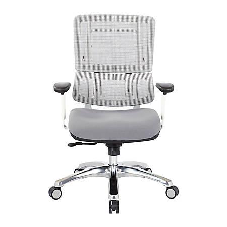 Pro-Line II™ Pro X996 Vertical Mesh High-Back Chair, White/Dove Steel/Polish Aluminum