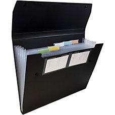 JAM Paper Plastic 6 Pocket Expanding