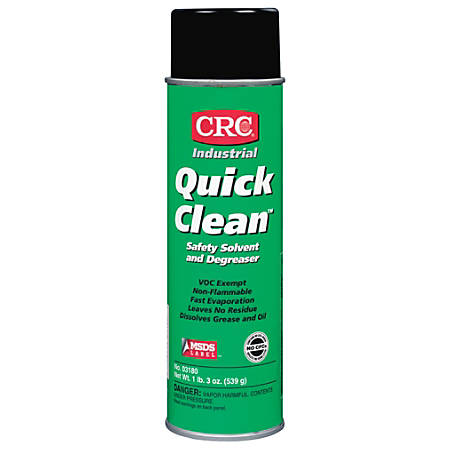 CRC Quick Clean™ Safety Solvent/Degreaser, 20 Oz Aerosol Can, Clear