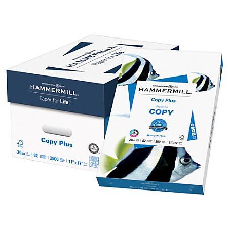 Hammermill® Paper, Copy Plus MP, Ledger Paper, 20 Lb, 500 Sheets Per Ream, Case Of 5 Reams