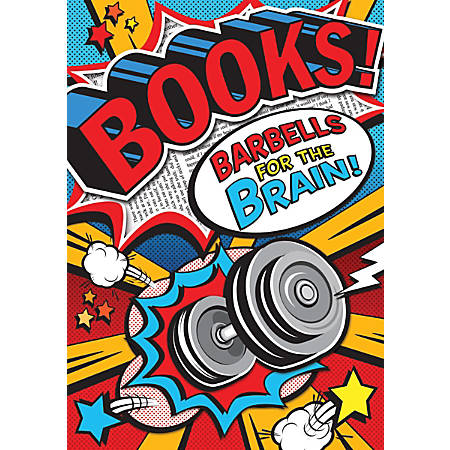 "Scholastic Teacher's Friend POP! Chart, 13 3/8"" x 19"", Books! Barbells!"