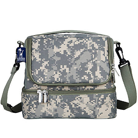 Wildkin Double Decker Lunch Bag, Digital Camo