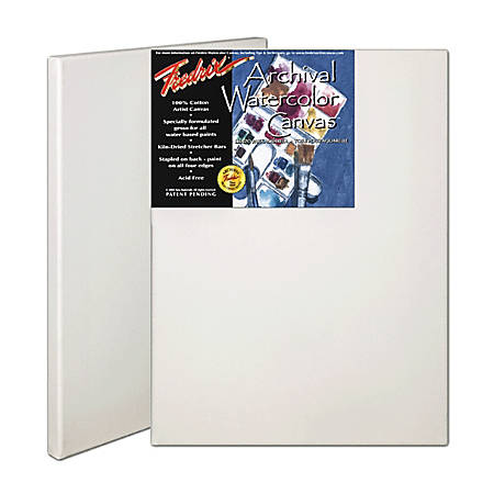 "Fredrix Archival Watercolor Stretched Canvases, 12"" x 16"", Pack Of 2"