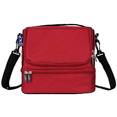"""Wildkin Double Decker Lunch Bag, 8""""H x 9""""W x 7""""D, Cardinal Red"""