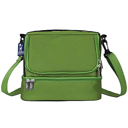 """Wildkin Double Decker Lunch Bag, 8""""H x 9""""W x 7""""D, Parrot Green"""