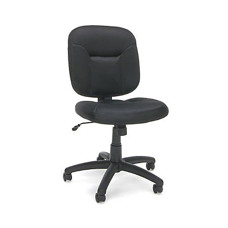 OFM Essentials Armless Fabric Mid-Back Task Chair, Black