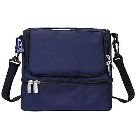 Wildkin Double Decker Lunch Bag, Whale Blue
