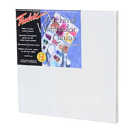"""Fredrix Archival Watercolor Stretched Canvases, 12"""" x 12"""", Pack Of 2"""