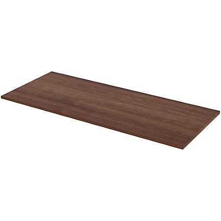 """Lorell® Laminate Table Top, 72""""W x 30""""D, Walnut"""