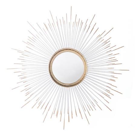 Zuo Modern Round Splan Mirror, Gold
