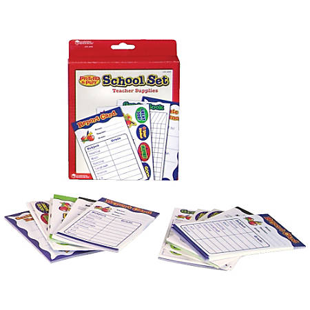"Learning Resources® Pretend & Play® Teacher Supplies School Set, 7""H x 5 1/2""W x 1""D, Grades Pre-K - 2"