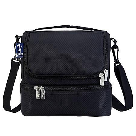Wildkin Double Decker Lunch Bag, Rip-Stop Black