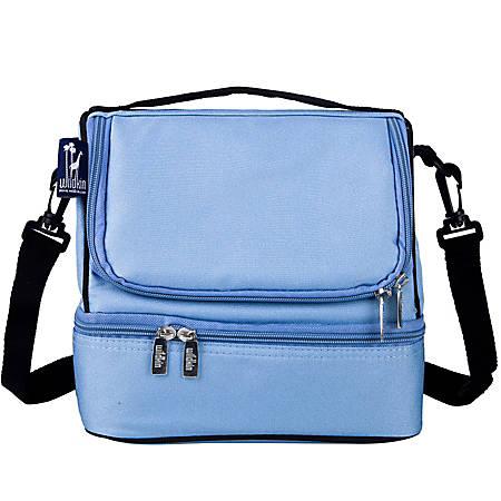 Wildkin Double Decker Lunch Bag, Placid Blue