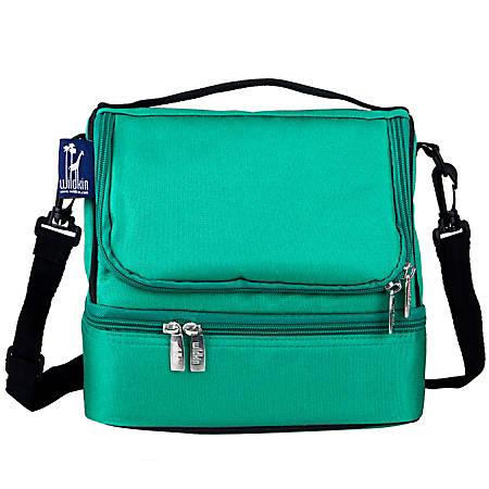 Wildkin Double Decker Lunch Bag, Emerald Green