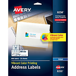 Avery Color Printing Labels 8250 1