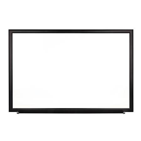 "FORAY™ Magnetic Dry-Erase Boards With Aluminum Frame, Melamine Board, 48"" x 96"", White Board, Black Frame"